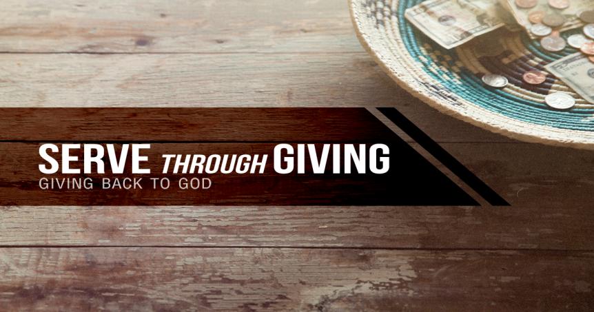 Serve through Giving